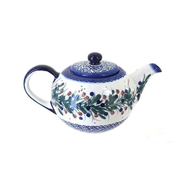 Blue Rose Polish Pottery Berry Large Teapot