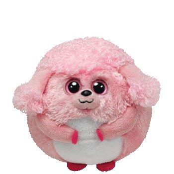 Ty Beanie Ballz Lovey Plush - Pink Poodle 41ce08c23782
