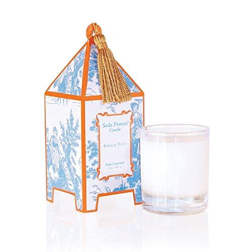 Seda France Classic Toile French Tulip Mini Pagoda Candle (Collection Tulip Perennial)