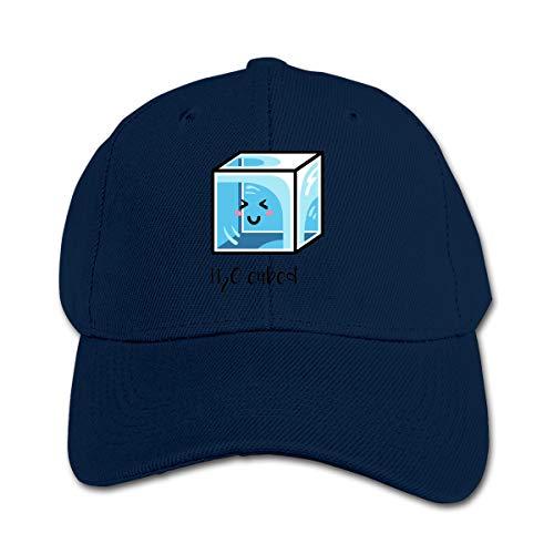 - H2O Cubed Ice Block Chemistry Science Joke Children Toddler Infant Cap Hat Peaked Baseball Hats Navy