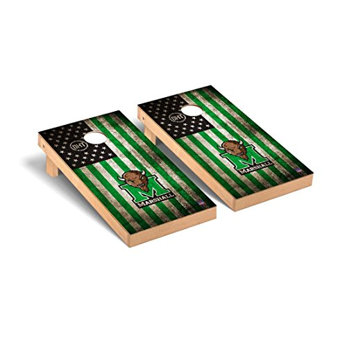 Victory Tailgate Marshall Thundering Herd Cornhole Game Set OHT Vintage Flag Version