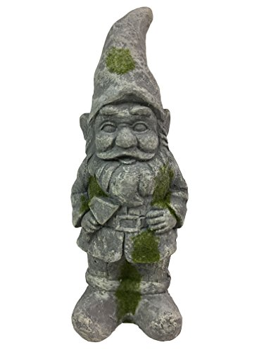 Cement Garden Statue (Antique looking Concrete Garden Gnome with Axe)