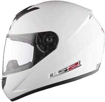 Amazon.es: Casco de la Motocicleta LS2 FF351 Mono casco Integral Todos los Colores (S, Blanco)