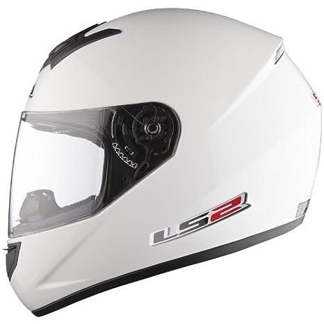 Casco de la motocicleta LS2 FF351 Mono casco integral (XL, Blanco)