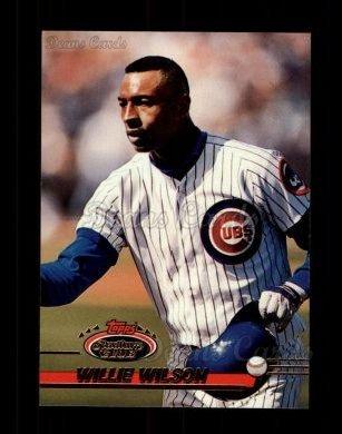 1993 Topps Stadium Club # 622 Willie Wilson Chicago Cubs (Baseball Card) Dean's Cards 8 - NM/MT Cubs - Cubs Stadium Club