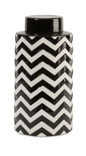 (IMAX 18184 Chevron Canister with Lid)