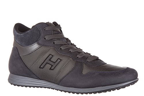 Hogan chaussures baskets sneakers hautes homme en cuir h205 olympia mid cut h fl