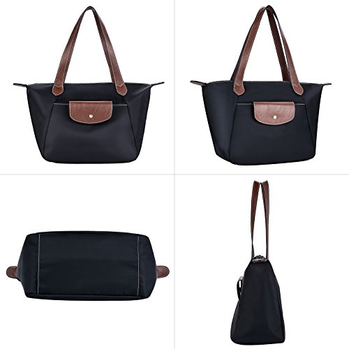Bags Black Womens Nylon Black Shoulder Beach Tote Handbags Handbags Women for COOFIT Bag qAxwzgg