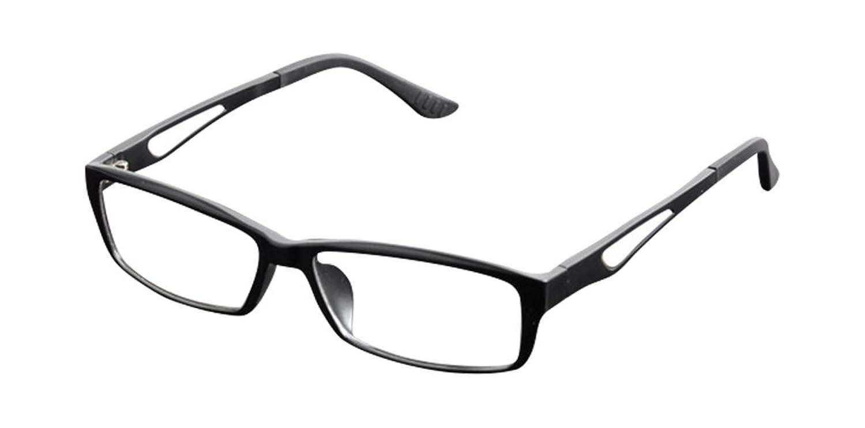 De Ding Men's Womens Clear Lens Optical Eyeglasses Frames Black White