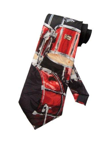 steven-harris-mens-drum-set-drummer-band-necktie-black-one-size-neck-tie