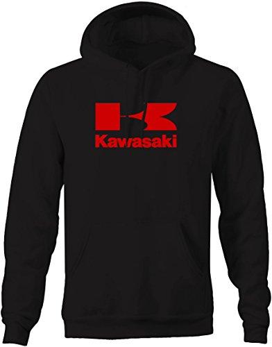 Kawasaki Men's Motorcycle Hooded Fleece Sweatshirt - Large