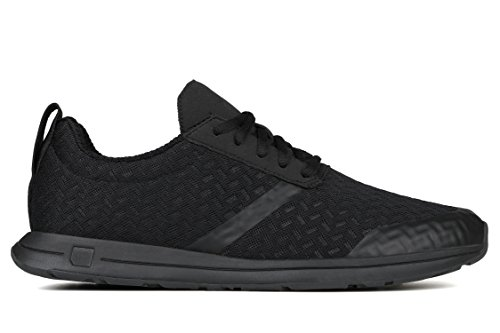 York Athletics The Henry Lightweight Running Sneaker, Unisex Running Shoe, Durable Mesh, Microfiber, Rubber, EVA (Men's 9/Women's 10.5, Triple Black Top (Cloud Mesh))