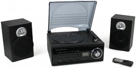 Mini equipo de música con decodificador (tocadiscos, CD, Radio AM ...