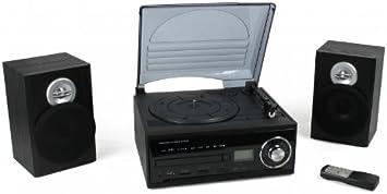 Mini equipo de música con decodificador (tocadiscos, CD, Radio ...