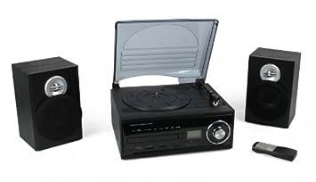Mini equipo de música con decodificador (tocadiscos, CD ...