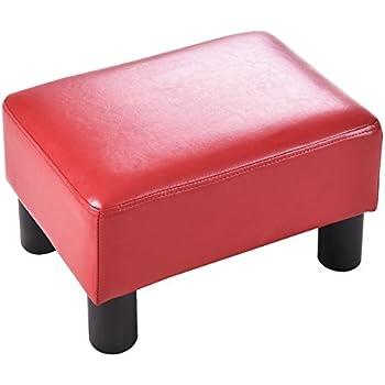 Amazon Com Giantex 16 Quot Small Footstool Pu Leather Ottoman