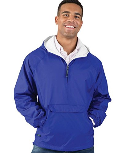 (Charles River Apparel Wind & Water-Resistant Pullover Rain Jacket (Reg/Ext Sizes), Royal, XL)