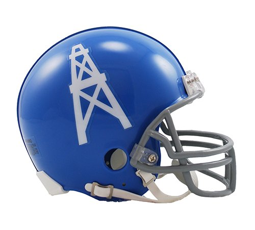 Houston Oilers 1960-1963 Throwback Riddell Mini Football Helmet - New in Riddell Box (Houston Oilers 1962)
