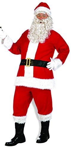 Forum Novelties Men's Flannel Santa Suit, Red/White, X-Large - Flannel Santa Suit