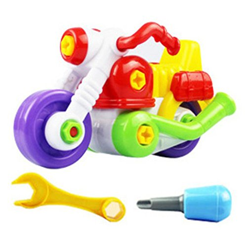 Start Kids Cartoon Motorcycle Child Gift Assembly Toy With Tool