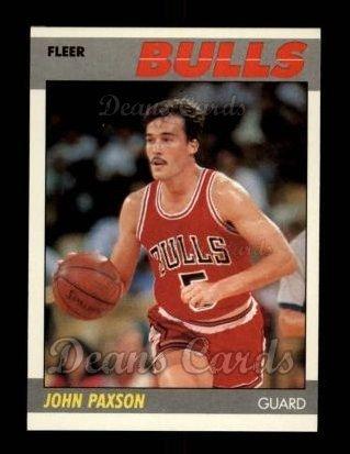 1987 Fleer # 83 John Paxson Chicago Bulls (Basketball Card) Dean's Cards 8 - NM/MT Bulls