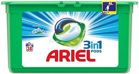 Ariel 3en1 Pods Detergente Cápsulas, Alpine, Limpieza Increíble ...