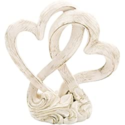Fashioncraft 2509 Vintage Style Double Heart Design Cake Topper/Centerpiece