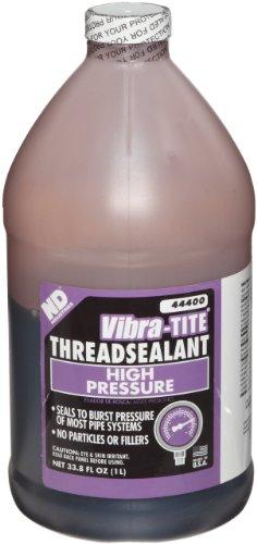 Vibra-TITE 444 Brown High Pressure Hydraulic Anaerobic Thread Sealant, 1 liter Jug by Vibra-TITE