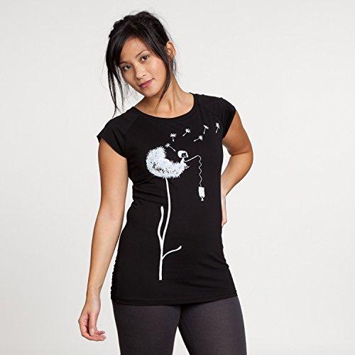 FellHerz Pusteblume Cap Sleeve white/black aus 100% Biobaumwolle hergestellt // GOTS und Fairtrade zertifiziert