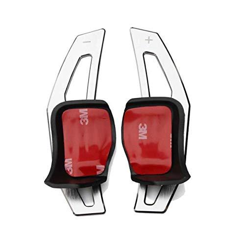 WANWU Aluminum Steering Wheel DSG Paddle Extension for VW Golf 5 Golf 6 MK5 MK6 GTI R32 R R20 (Silver)