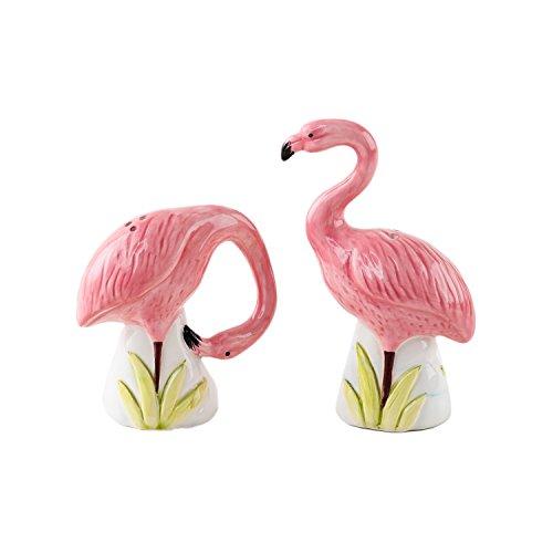 G3291JPF Jadeite Green Glass Pink Flamingo Roman Arch Jadite Salt /& Pepper Shakers