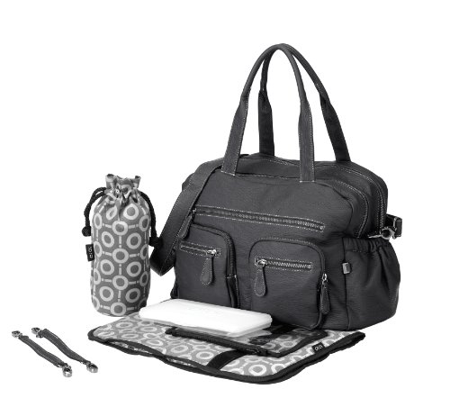 Price comparison product image OiOi Faux Buffalo Carryall Diaper Bag,  Charcoal
