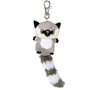 YooHoo & Friends - Llavero de peluche Lemur, 8 cm, color gris y blanco (Aurora World 12542)