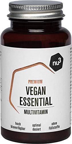 nu3 nu3 – Vegan Essential Multivitamines 60 gélules – Complément Alimentaire 7 Nutriments Contenant Du Calcium, Du Zinc…