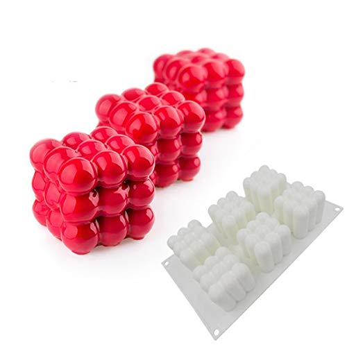 Christmas Magic Ball Multilateral Ball Mousse Mold DIY Baking Tools Silicone Bakeware French Dessert Mousse Cake Mold - 6 Cavities (Magic Ball)