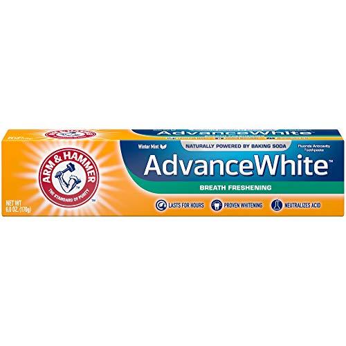 Arm & Hammer Advanced White Breath Freshening Fluoride Toothpaste, Winter Mint, 6 Ounce Tube