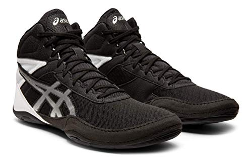 ASICS Men's Matflex 6 Wrestling Shoes, Black/Silver, 11 M US