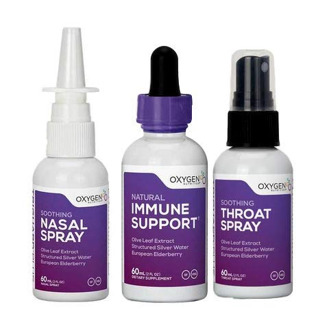 TriGuard Plus Cold & Flu Pack by Oxygen Nutrition | Immune Support, Nasal Spray and Throat -