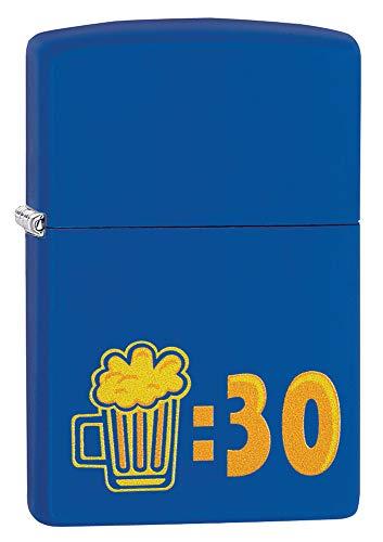 Zippo Beer 30 Design Royal Blue Matte Lighter