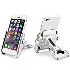The easy, fast, secure way to mount your iPhone, smart phone, GPS or most other electronic devices to your handlebars. Adjustable 360 degree rotation head allows ideal positioning of the device for easy viewing. Quick-disconnect design allows...