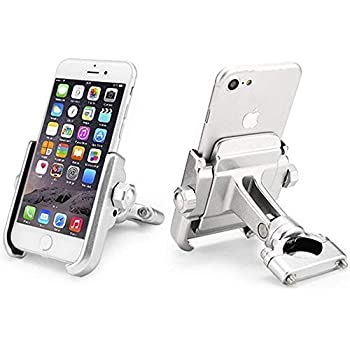 ILM Bike Motorcycle Phone Mount Aluminum Bicycle Cell Phone Holder Accessories Fits iPhone X Xs, 7 | 7 Plus, 8 | 8 Plus, iPhone 6s | 6s Plus, Galaxy S7, S6, ...