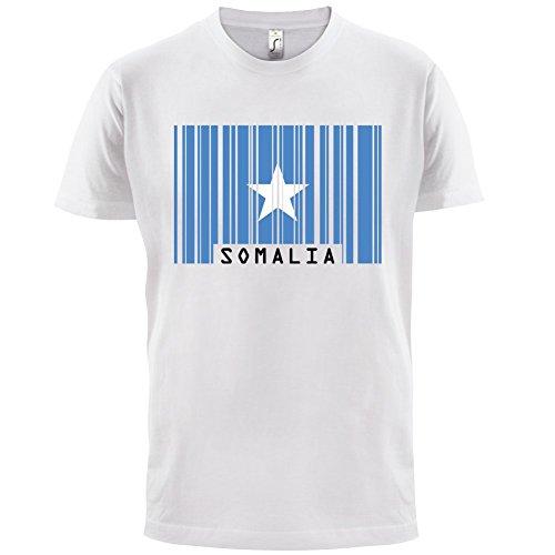 Somalia / Bundesrepublik Somalia Barcode Flagge - Herren T-Shirt - Weiß - XXXL