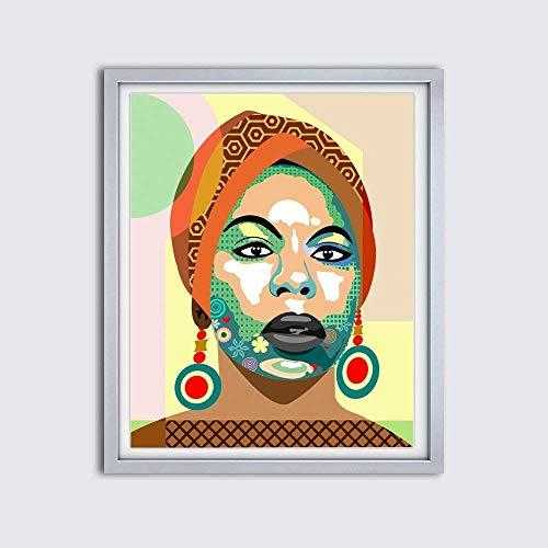(Nina Simone Wall Art Print Poster Painting-8