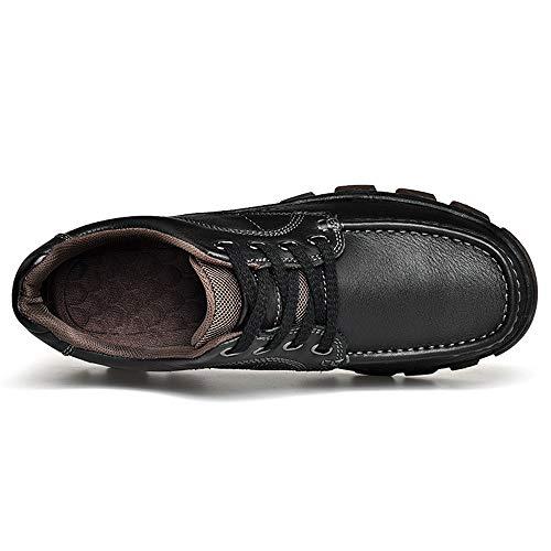 Des Plein Noir Lan De Laçage La Shuo Outsole Casual Brown chaussures Cricket Taille Oxford 39 Air Eu Air Cushioning Hommes Light Chaussures color Mode Confortable w6StPqc4dt