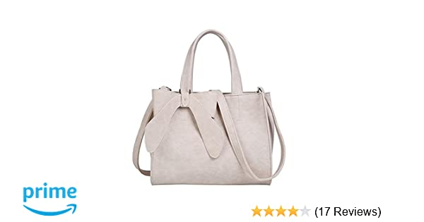 8bee5e09250b Women s Tote Purses and Handbags Bow Tie Leisure Top-Handle Cross-body Shoulder  Bags