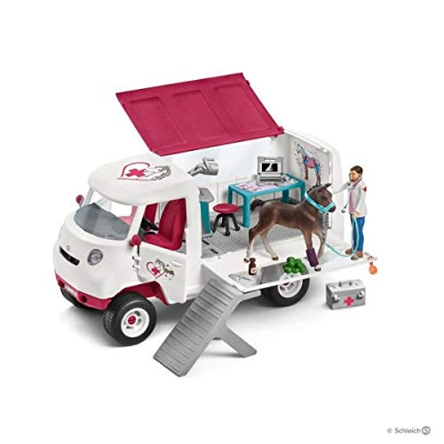 Schleich Horse Club Mobile Vet with Hanoverian Foal 42370