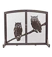 Plow & Hearth Large Owls Fireplace S...