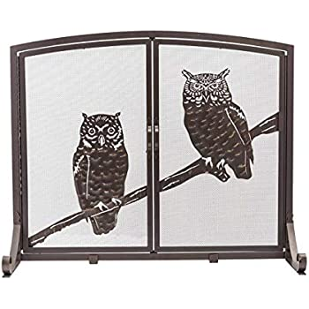 Amazon Com Plow Amp Hearth Large Owls Fireplace Screen With