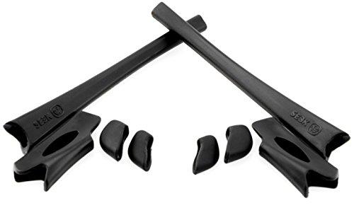 FLAK JACKET Rubber Accessories Kit Earsocks & Nosepads Black by SEEK fits OAKLEY from Seek Optics