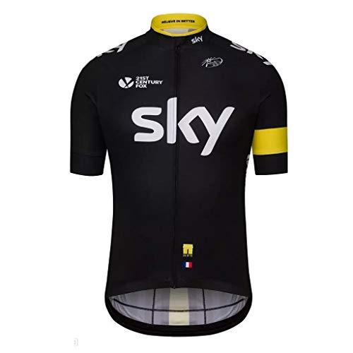Team Sky Summer Cycling Jerseys Ropa Ciclismo Racing Short Sleeves Mens Bicycle Shirts Yellow